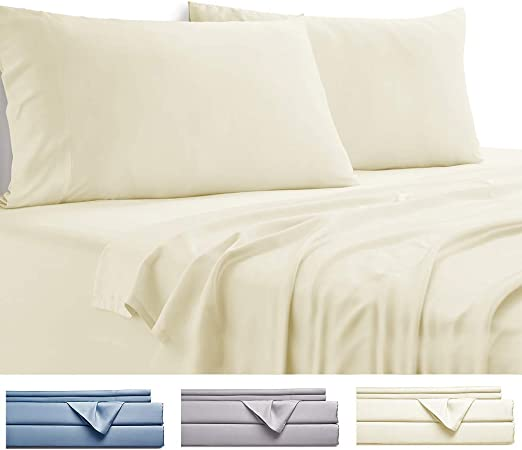 BAMBOO 100/% COTTON HEAVY SHEET SET OUR BEST QUALITY BED HYPOALLERGEN