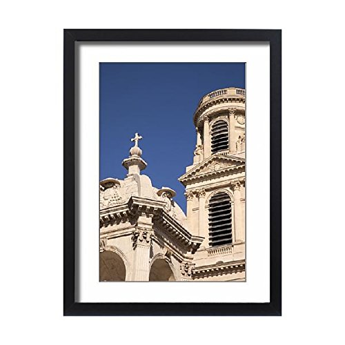 Framed 24x18 Print of Detail of Towers of Eglise Saint Sulpice, Saint-Germain-des-Pres (13934482) by Media Storehouse