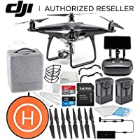 DJI Phantom 4 PRO+ PLUS Obsidian Edition Drone Quadcopter Includes Display (Black) Essentials Landing Pad Bundle