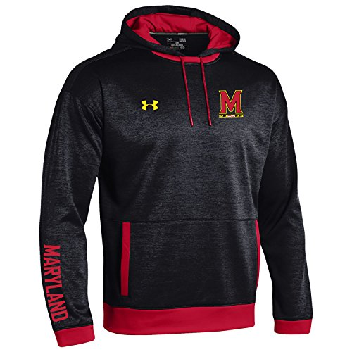 NCAA Maryland Terrapins Men's Momentum Sideline Storm Fleece Hoodie, X-Large, Black
