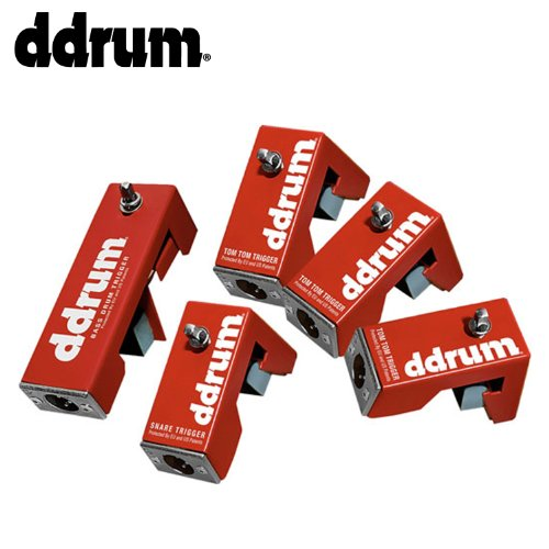 Pack Red Shot Trigger Pack with 4 Snare//Tom Triggers DDrum RSKIT 5 Bass Drum