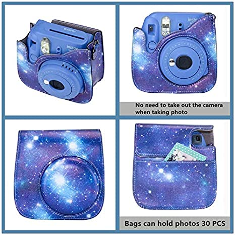 Cpano 10 in 1 Instax Mini 9 Camera Case Accessories Bundle Compatible with Instax Mini 8 8 Include Case//Album//Selfie Lens//Filters//Wall Hang Frames//Film Frames//Border Stickers Magic purple