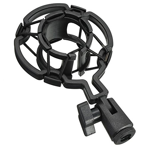 Docooler Universal Microphone Shock Mount Plastic Studio Mic Holder Stand Clip for Large Diaphram Condenser