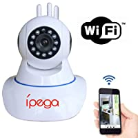 Câmera Wi-Fi IP Wireless Sem Fio HD 3 Antenas Infra Vermelho PTZ P2P - KP-CA127