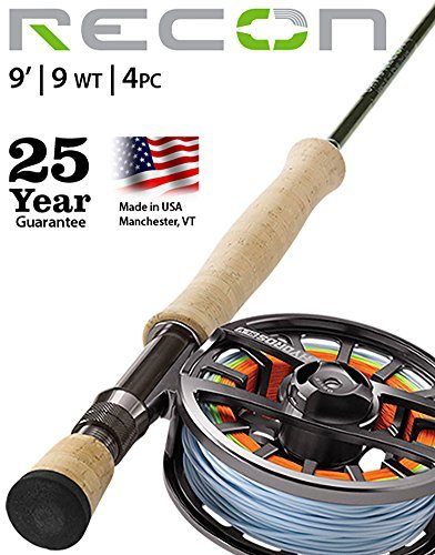 Orvis Recon 9-weight 9' Fly Rod 4Pc Outfit Hydros SL V Reel - Orvis Saltwater Reel