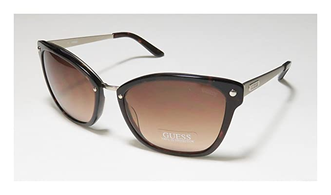 Womens GG1123 Sunglasses, Brown (Havana), 57 Guess