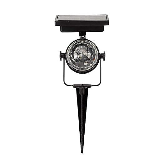 Lorenlli Luz de proyector LED, lámpara de energía Solar Que Gira ...