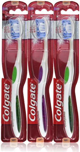 Colgate 360 Optic White Platinum Toothbrush, Full Head, Soft (Pack of 3