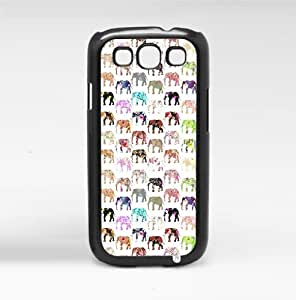Colorful Floral Print Elephant Pattern Hard Snap on Phone Case (Galaxy s3 III)