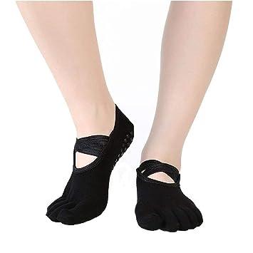 JHKJ 2 Pares De Calcetines De Yoga para Mujer Pilates ...
