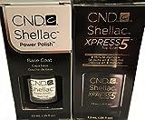 Shellac Gel UV Soak-Off Xpress5 Top Coat & Base Coat 0.25fl.oz ea.- 2 pc Set