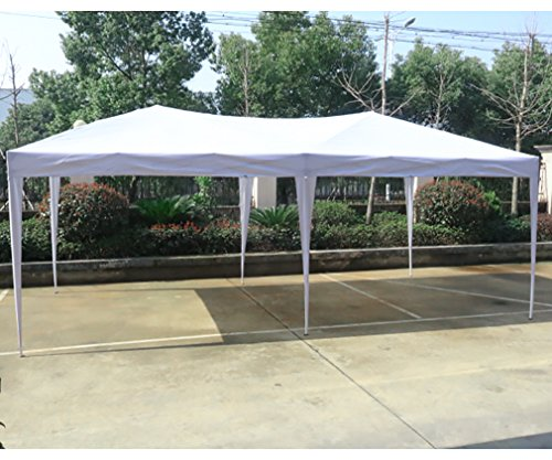 10'x20'EZ Pop Up Canopy Tent Instant Canopy Party Tent W/Free Carry Bag Waterproof BestMassage by BMS