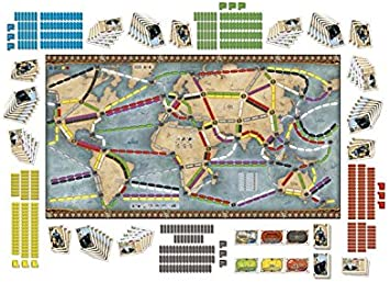 Edge Entertainment - ¡Aventureros al Tren! La Vuelta al Mundo, Juego de Mesa (EDGDW720826): Amazon.es: Juguetes y juegos