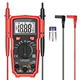 Multimeter, LeeQin Ture-RMS Auto Ranging Digital Multimeter, 2000 Counts AC/DC Voltage/Current Resistance Diode Continuity Measurement Tool with Backlight LCD Display