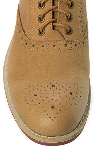 Parrazo Mens Slip-on Oxfords-skor Läder Casual Mode Eller Formell Affärs Klänning Tan