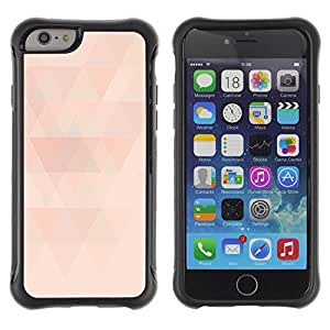 """All-Round Hybrid Rubber Case Hard Cover Protective Accessory Compatible with Apple iPhone 6PLUS ¡ê¡§5.5"""") - polygon peach pink pattern light minimalist"""