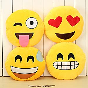Amazon.com: 1 PIECE Emoji Smiley Emoticon Yellow Round