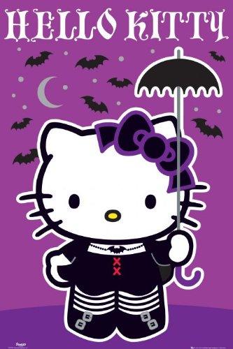 Elite*Posters Hello Kitty Fangbanger Paraguas tamaño Grande Carcasa para Póster de 61 por 91