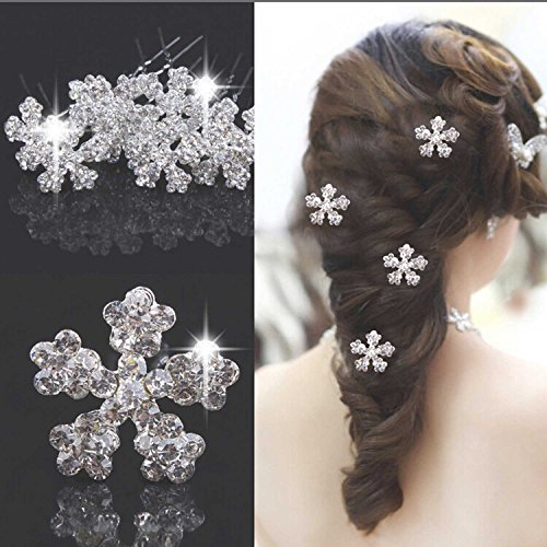 Nero Vintage Wedding Hair Accessories for Women Bridal Hair Pins with Rhinestone (4 Set)