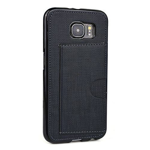 - Kroo Cell Phone Case with Card Holder for Samsung Galaxy S6 - Non-Retail Packaging - Black