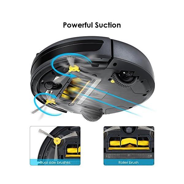 InLife Aspirapolvere Robot Automatico Telecomandato Ricarica Automatica con Telecomando, Blocco Virtuale Bidirezionale… 3 spesavip