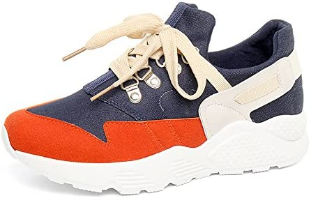 GUNAINDMX Zapatillas de Deporte/Muelles/Zapatillas de Running/Zapatillas de Todo a Juego/Plano/Zapatos/Zapatos Casual, Naranja, Thirty-Eight: Amazon.es: Deportes y aire libre