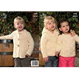 07aed9db8 King Cole Children s Sweater   Jacket Aran Knitting Pattern 2850 ...