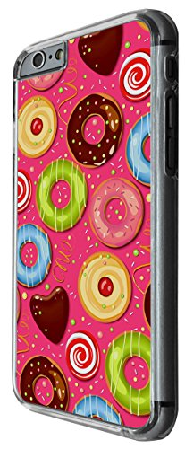 929 - Colorfull Yumm Yum Icing Doughnuts Candy Design For iphone 6 Plus / iphone 6 Plus S 5.5'' Fashion Trend CASE Back COVER Plastic&Thin Metal -Clear