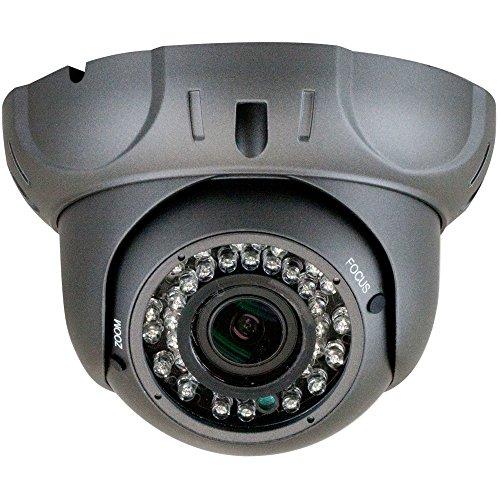 GW Security 2.1MP 1080p 4-in-1 HD TVI / AHD / CVI / 960H 1200TVL CCTV Outdoor Indoor Security Camera, 2.8-12 mm Varifocal Zoom Lens (Grey)