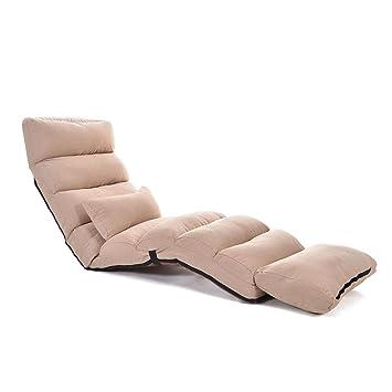 Liscenery Pliable Reglable Lazy Sol Canape Chaise Longue Confortable Ameublement Canapes Et Avec
