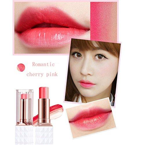 YIYEZI 3.5g Lip Gloss Difficult Decolorize Gradient Tricolor Lipstick Waterproof Long Lasting Matte Magic Moisturizing Cosmetics (A) ()