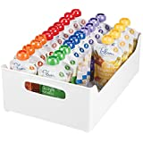 """mDesign Stackable Plastic Storage Organizer Containers with Built-in Handles for Kitchen Countertop, Cabinet, Pantry, Refrigerator - BPA Free - for Kids Snacks/Food, 10"""" Wide - White"""