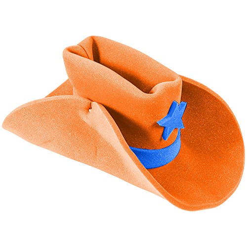 Huge Funny and Crazy Orange Cowboy Hat Super Size Cowgirl Hats Funny Party Hats®
