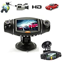 GBSELL Details about 2.7 Video Dashboard Vehicle Dual Lens Camera Recorder GPS HD Car DVR R310