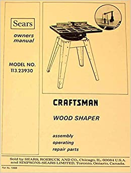 craftsman shaper manual