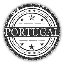 Portugal Grunge Stamp Label Art Decor Bumper Sticker 5'' x 5''