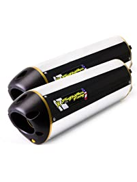 Two Brothers Racing (005-480406DM) Standard Series Dual Slip-On Exhaust System with M-2 Aluminum Canister