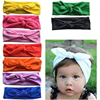 Arlai 10 Color Toddler Bow Headband Turban Knot Rabbit Hairband 10 pcs