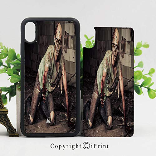 Case for iPhone X,Halloween Scary Dead Man in