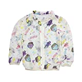 Abalaco Kids Girl Boy Summer Very Thin Smoonth Transparent Sun Protection Breathable Lightweight Coat Top Outdoor 2-7T (6-7 Years, Cartoon)