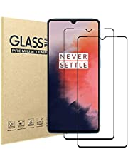 [2 Pack] Oneplus 7T Screen Protector,Full Coverage HD Tempered Glass Anti-Scratch 9H Hardness Tempered Glass Protective Film Screen Protector for Oneplus 7T