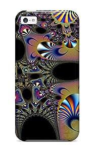 Tpu Shockproof/dirt-proof Fractal Cover Case For Iphone(5c) Kimberly Kurzendoerfer