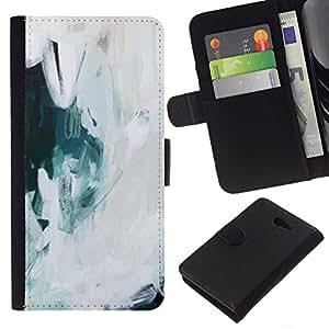 All Phone Most Case / Oferta Especial Cáscara Funda de cuero Monedero Cubierta de proteccion Caso / Wallet Case for Sony Xperia M2 // Art Painting Snow Oil Ice