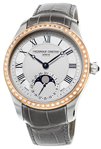 Frederique Constant Manufacture Moonphase 18kt Rose Gold Steel Womens Watch FC-705MMC3MDZ9
