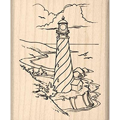 Stamps by Impression Lighthouse Rubber Stamp: Arts, Crafts & Sewing