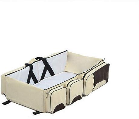 Bolso para pa/ñales Bolso multifuncional 4 en 1 para cambiar pa/ñales para beb/és Mochila port/átil con cuna plegable Mochila para pa/ñales para bolsa de viaje Mochila para pa/ñales con cambiador