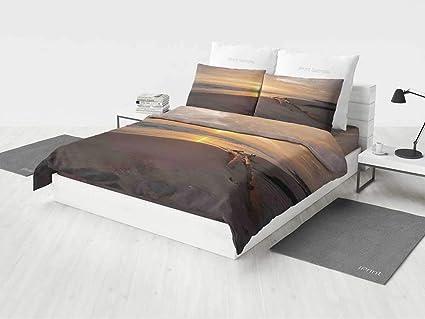Good Driftwood Decor Bedroom Bedding Sets Queen Golden Sun Rises Over A Distant  Horizon Sandy Beach And