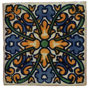 Amazon.com: 90 pintado a mano mexicano de Talavera Azulejos ...