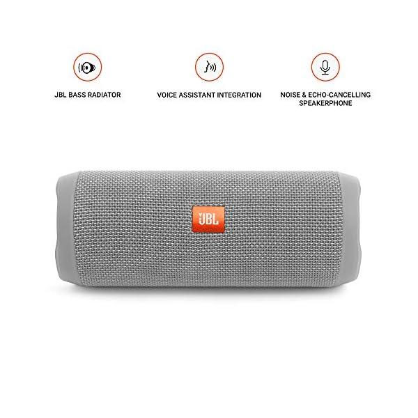 JBL Flip 4 - enceinte Bluetooth Portable Robuste - Étanche Ipx7 pour Piscine & Plage - Autonomie 12 Hrs - Qualité Audio JBL - Gris 2