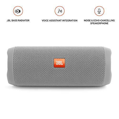 JBL Flip 4 Bluetooth Portable Stereo Speaker - Grey